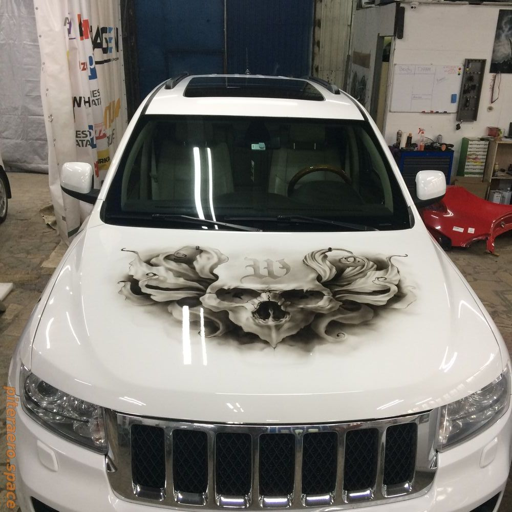 Airbrushing jeep